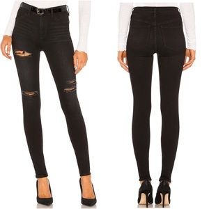 Free People Long & Lean Ripped High Waist Jeans